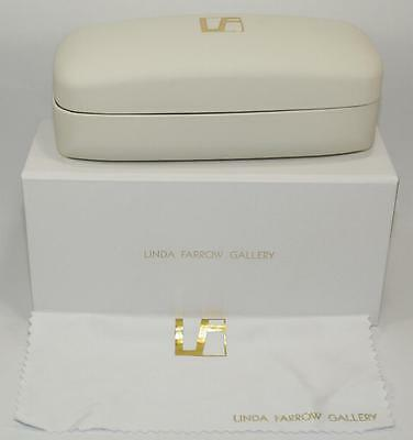 New Authentic Linda Farrow Gallery Sunglasses Case, Box, Cleaning Cloth
