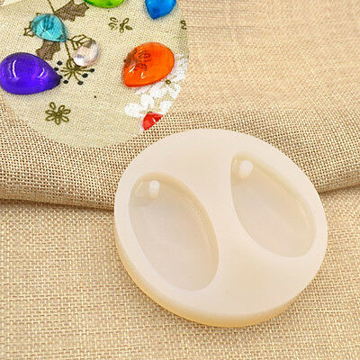Ellipse Charm Silicone Resin Mould DIY Pendant Jewellery Making Mold Handmade