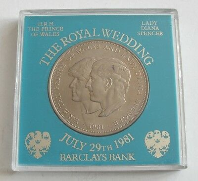 Collectable July 29th 1981 Royal Wedding Commemorative Crown - Barclays Bank
