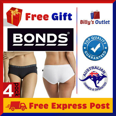 4 Bonds Womens Ladies Boyleg Hipster Undies Cotton Plus Size M XL Underwear
