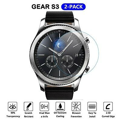[2 PACK] Gear S3 Screen Protector  Samsung Smart Watch 9H Tempered Gl...