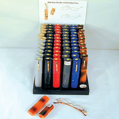 BULK LOT of 12 READING GLASSES readers eye with TUBE CASE readers glass magnify