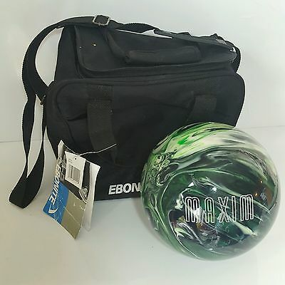 Ebonite Maxim Ten Pin Bowling Ball 8lbs *Undrilled* with Ebonite Carry Bag