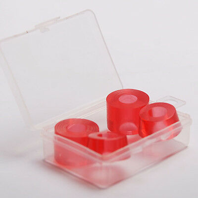 2Set 4Pcs Red Clear Cushions PU 85A General SKATEBOARD BUSHINGS 16mm/23mm