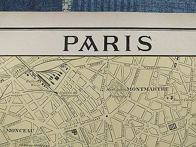 "PARIS FRANCE Map 1901 Antique Original FINE 11.75""x14.5"" Vintage Seine MAPZ141"