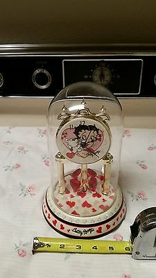 Betty Boop Porcelain Glass Dome Clock