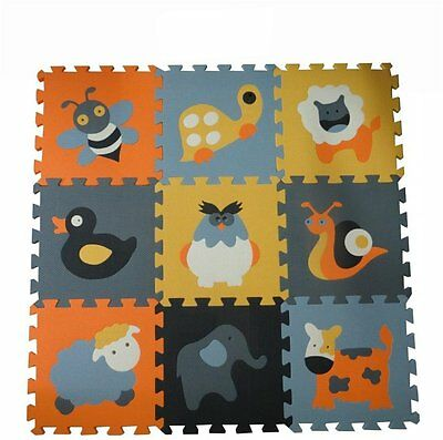 Animal Foam EVA Play Mat 9Pcs