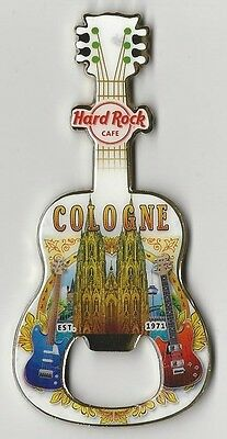 Flaschenöffner Bottle Opener Magnet Hard Rock Cafe Cologne Köln V14 NEU
