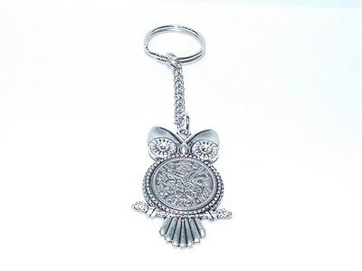 1957 Sixpence Owl Keyring for 60th Birthday Gift boxed