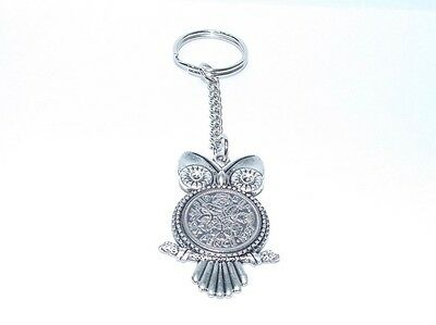 1967 Sixpence Owl Keyring for 51st Birthday Gift Boxed
