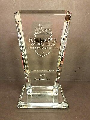 2002 Rolls Royce Owners Club Lake Michigan Region Award/Trophy - Fast Shipping