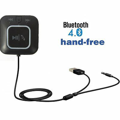 Hands free Bluetooth Receiver Car Kit,Upintek 3.5mm Bluetooth Audio Music AUX In