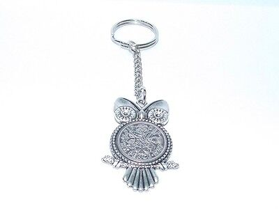 1960 Sixpence Owl Keyring for 58th Birthday Gift boxed