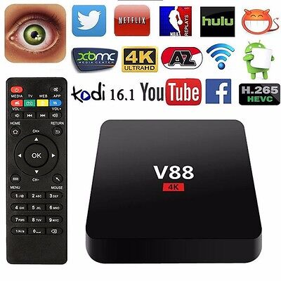 Android 5.1 Smart Tv Box Quad Core XBMC Kodi 16.1 4K Ultra HD PRO