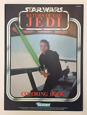 1983 Star Wars Return Of The Jedi Coloring Book, Kenner *Unused* MINT