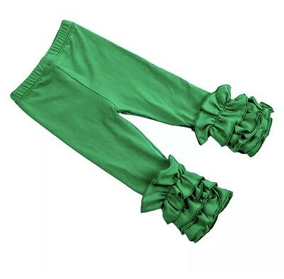 New Ruffle Pants Boutique Icing Ruffle Leggings Green 6M-3T