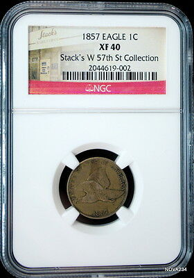 1857 Flying Eagle Cent Ngc Xf-40