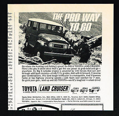 1970 Toyota Land Cruiser 4WD Photo The Pro Way To Go Vintage Print Ad