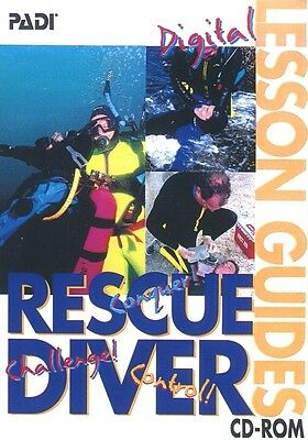 PADI Rescue Diver - Digital Lesson Guides (CD-ROM, PC, Mac) MINT!