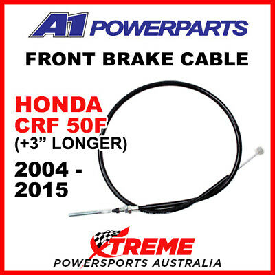 """A1 Powersports Honda CRF50F CRF 50F 2004-2015 Front Brake Cable +3"""" 50-495-30"""