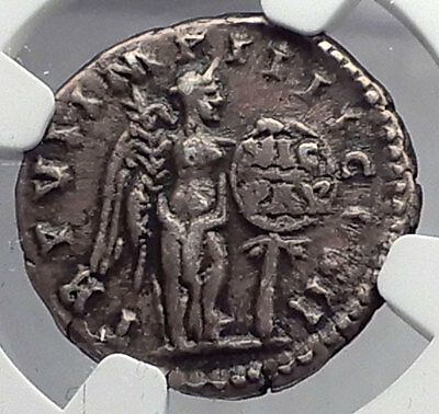 LUCIUS VERUS 166AD Victory over Parthia Ancient Silver Roman Coin NGC i59873