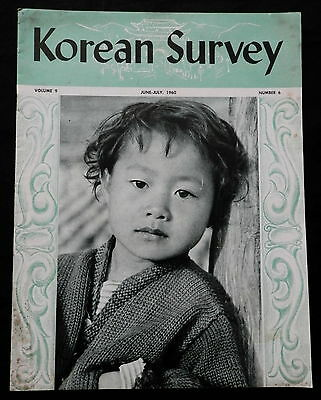 KOREAN SURVEY  Travel Advertising Magazine June-July 1960