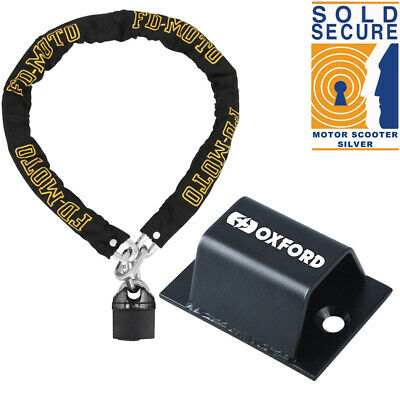 FD-MOTO Motorbike Motorcycle Chain Lock Oxford Ground Anchor Secure Optional