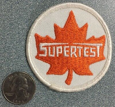 VINTAGE SUPERTEST PATCH Gasoline Oil Gas GUARANTEED ORIGINAL NOS EMPLOYEE