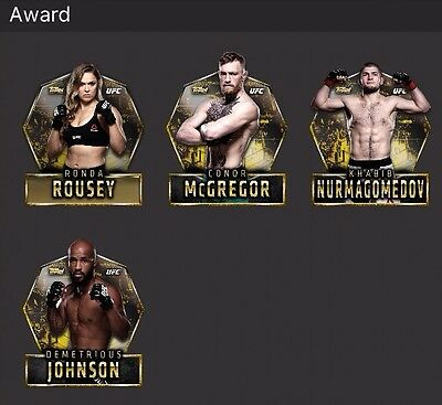 Topps UFC Knockout CardTrader Complete Wave1 2 3 DieCut Set  4 Awards 34cc Ronda
