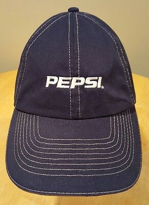 PEPSI Embroidered Baseball Cap Hat Blue One Size Adjustable Vintage