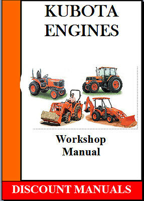 Kubota Tractors Plus  03 & 05 Series Diesel Engines Workshop Manual On Cd
