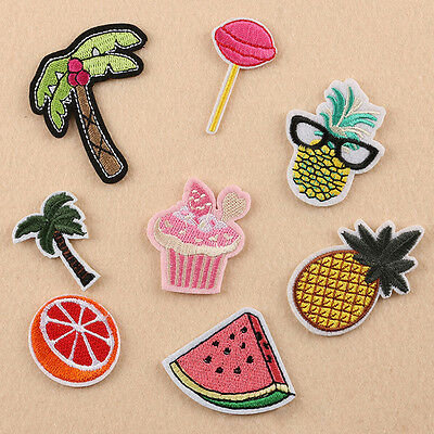 8pcs Embroidered Sew Iron On Patches Badge Hat Bag Fabric Applique Clothes DIY