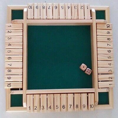 Traditional Shut the Box Game Wooden Board Number Drinking Dice Toy Family UK