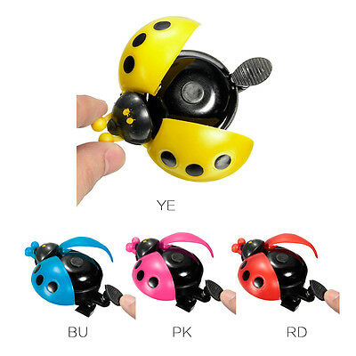 Kids' Bike Prank Cute Ladybird Ladybug Shape Cycling Bicycle Ring Bell Horn 1Pc