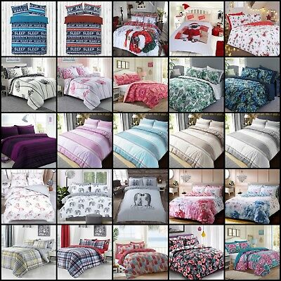 Duvet Cover With Pillowcases Quilt Cover Bedding Set Single Double King All Size