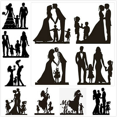 Quality Family Cake Topper Black Wedding Anniversary Gift Custom Pattern Color