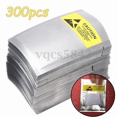 300x Lot Shielding Bags Waterproof ESD Anti Static 2.5''x4.5'' For Card Jewelry