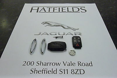 Genuine Jaguar Xk And Xf Key Battery Back,battery,chrome Trims, Matt, And Spring