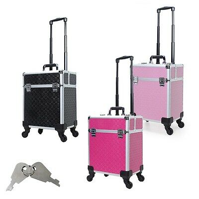 Trolley Beauty Case Make Up Nail Art Valigia Porta Trucchi Valigetta Cofanetto