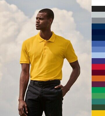3er Pack Fruit of the Loom: Herren Piqué Poloshirt Work EASY CARE 60°C 63-402-0
