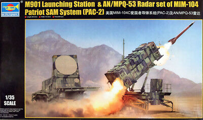 Patriot SAM System M901 + AN / MPQ -53 in 1:35 Model Kit Bausatz Trumpeter 01022