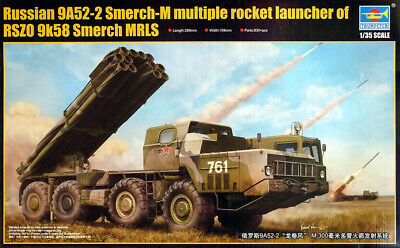 9A52-2 Smerch-M Soviet Rocket Launcher BM-30 1:35 Model Bausatz Trumpeter 01020