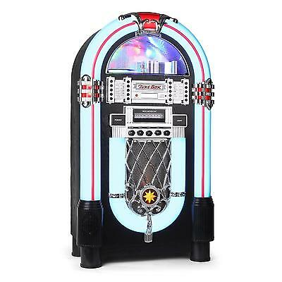 Ricatech Rr 1000 Jukebox Retro Design Cd Musikbox Ukw Mw Radio Led Effekt Aux