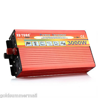 XUYUAN 3000W Solar Car Power Inverter DC 24V to AC 220V Vehicle Transformer