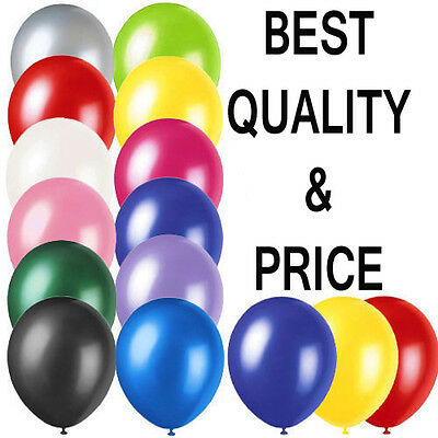 100 LARGE PLAIN BALONS BALLONS helium BALLOONS Quality Birthday Weddings BALOONS