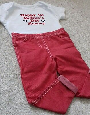 Personalised Baby Clothes/Gifts/Mothers day❤ outfit/Happy 1st Mother's Day ❤