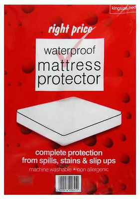 Waterproof Washable Non Allergenic Kingsize Mattress Incontinence Protector