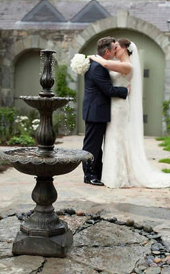 Cast Iron 2 tier fountain Water feature Central water feature classic (1523)