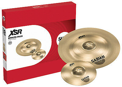"""Sabian XSR Effects Cymbal Pack with 10"""" XSR Splash, 18"""" XSR Chinese"""