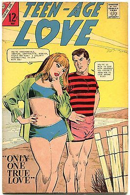 Teen-Age Love #53 1957- Charlton Romance- Swimsuit cover VG/F